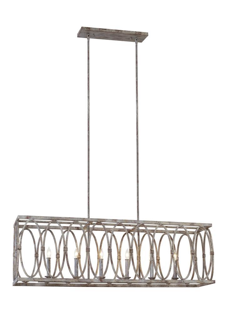 Patrice 6 - Light Linear Chandelier