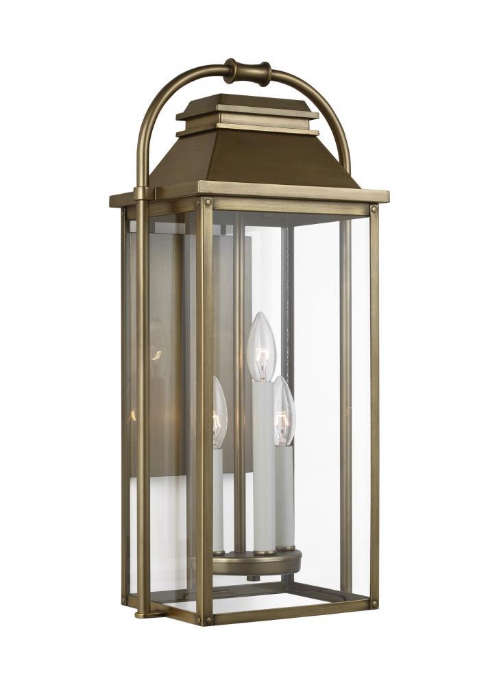 Wellsworth 3 - Light Outdoor Wall Lantern
