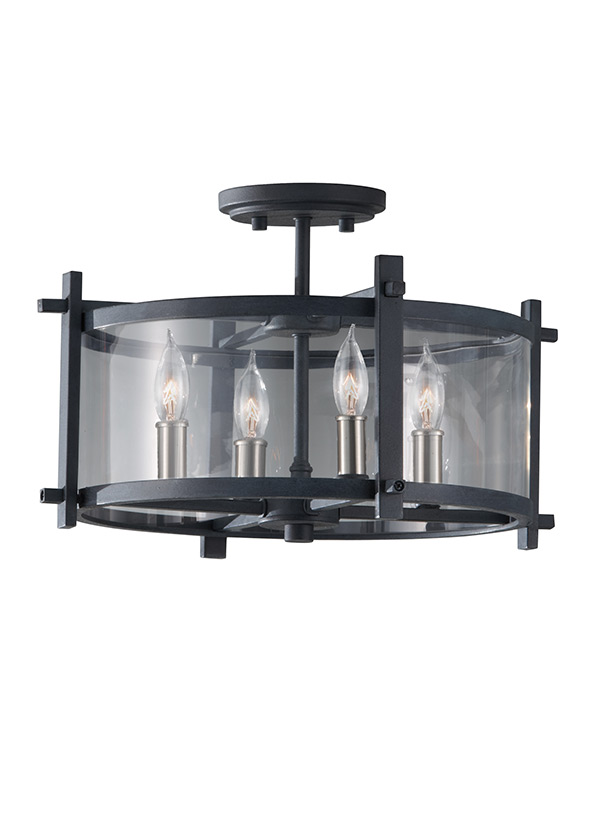 Ethan 4 - Light Indoor Semi-Flush Mount