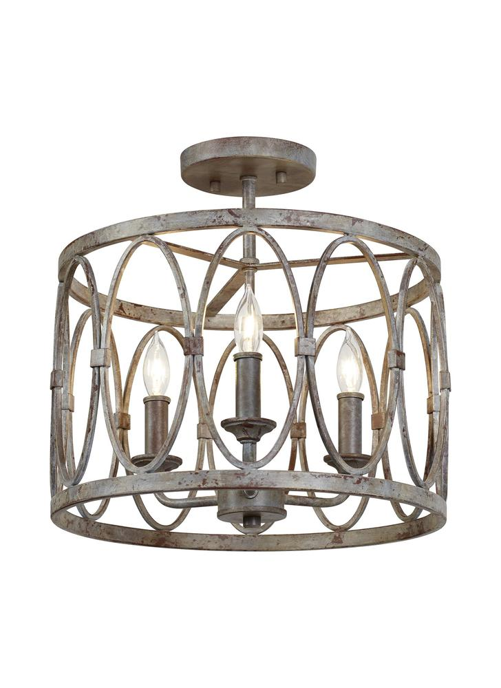 Patrice 3 - Light Semi Flush Mount